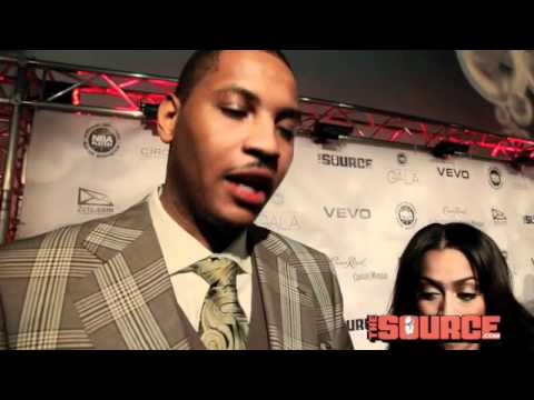 Video: Carmelo Anthony & Lala speak with The Source Magazine [Exclusive!]