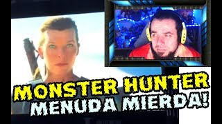 TEASER FILTRADO MONSTER HUNTER THE MOVIE - MILLA JOVOVICH - REACTION - VIDEO REACCION - FYD COMICS