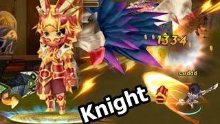 LINE Dragonica Mobile รีวิว อาชีพ Knight และ Skill