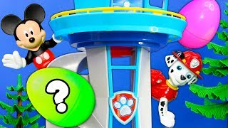Mickey Mouse and PJ Masks do a Paw Patrol Lookout Tower Takeover