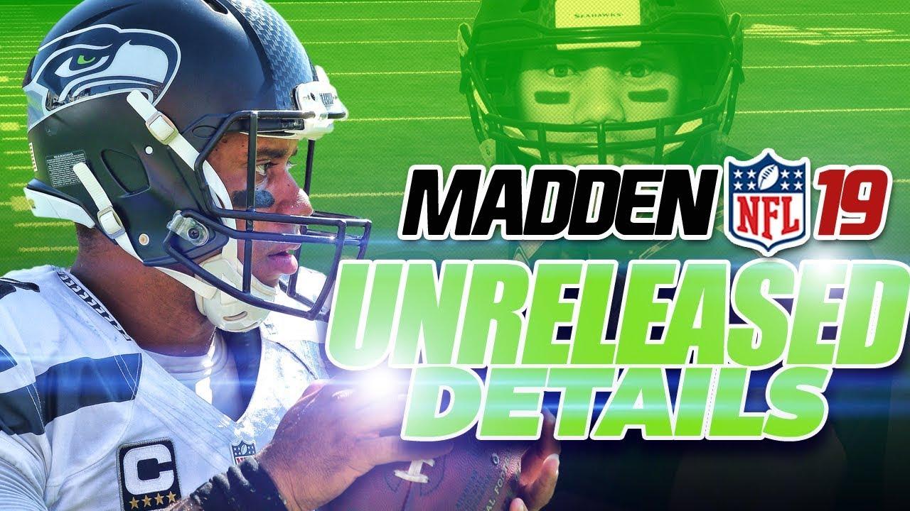 Madden 19 UNRELEASED Details!