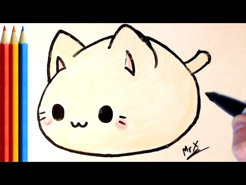 How To Draw A Fat Cat Super Easy Step By Step Tutorial Youtube