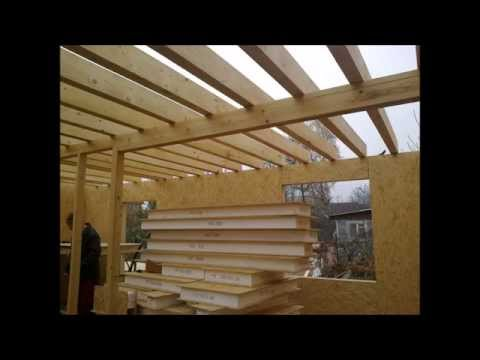 Каркасно панельный дом видео со стройки