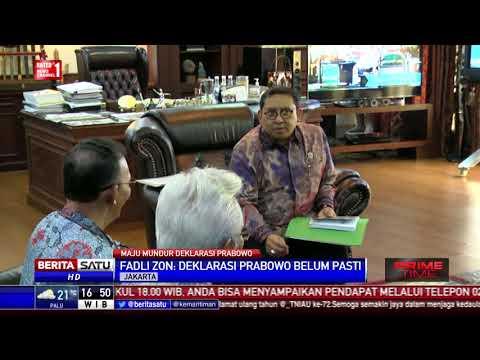 Fadli Zon:  Deklarasi Prabowo Belum Pasti