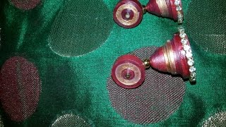 DIY: How to make Quilling Jhumkas/Earrings