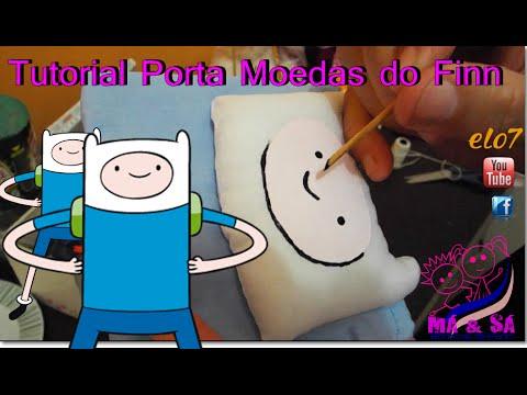Tutorial Porta Moedas do Finn   Má & Sá Bonecas de Pano