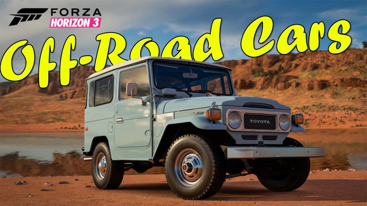 Forza Horizon  Off Road Car List