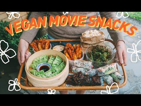 VEGAN MOVIE NIGHT RECIPES 🎬 best-ever wedges + satay tofu rice paper rolls