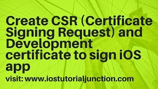 how to create Apple Certificates - Step 1: CSR file creation