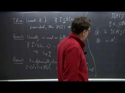 Algebraic Geometry - Lothar Göttsche - Lecture 03