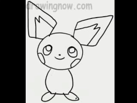 learn to draw pichu the pokeman - youtube