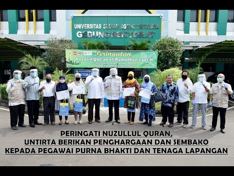 Peringatan Nuzulul Qur'an 17 Ramadhan 1441 H di Untirta (11 Mei 2020)