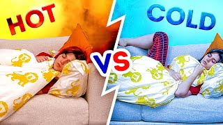 HOT vs. COLD || Funny Relatable Things, Life-Changing Hacks and Gadgets