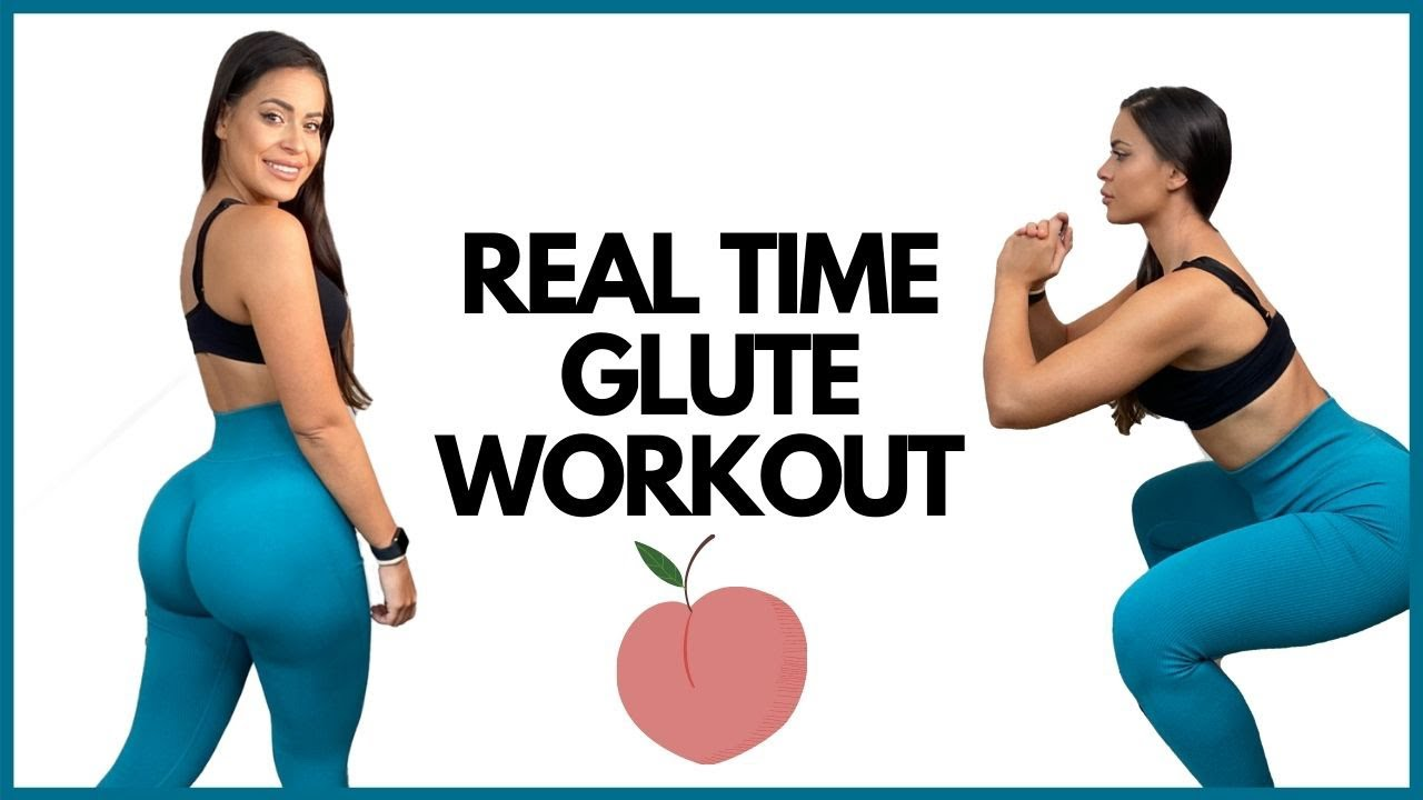 Real Time Booty Workout | Grow your Glutes at Home