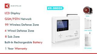 Wireless home & business security burglar alarm system  KR 5800G