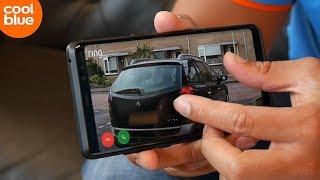 Hoe ziet het beeld van mijn IP-camera of deurbel er op mijn telefoon uit?