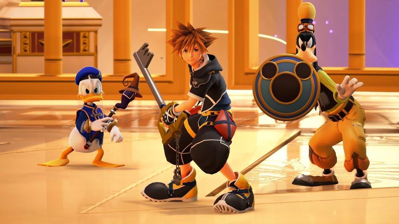 Kingdom Hearts 3 - Sora, Donald, Goofy & Hercules Battle the Mountain  Titans - YouTube