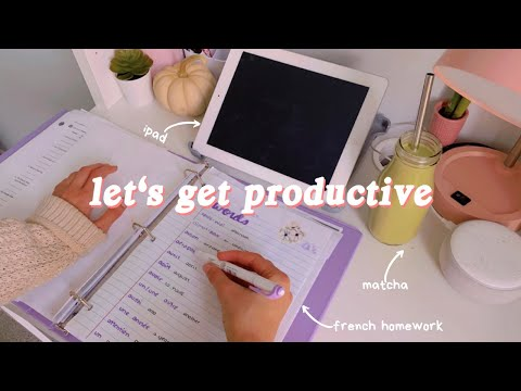 after school homework vlog 🍵 (french assignments and history notes)