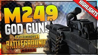 PUBG Mobile Stream HIGHLIGHTS :  M249 KA JALWAA! HAYEE RAAM!!