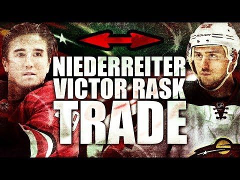 NINO NIEDERREITER TRADED FOR VICTOR RASK - Minnesota Wild / Carolina Hurricanes Trade (NHL Trades)