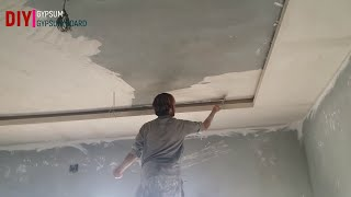 how to make false ceiling at home BED ROOM CEILING  DIY GYPSUM & GYPSUM BOARD