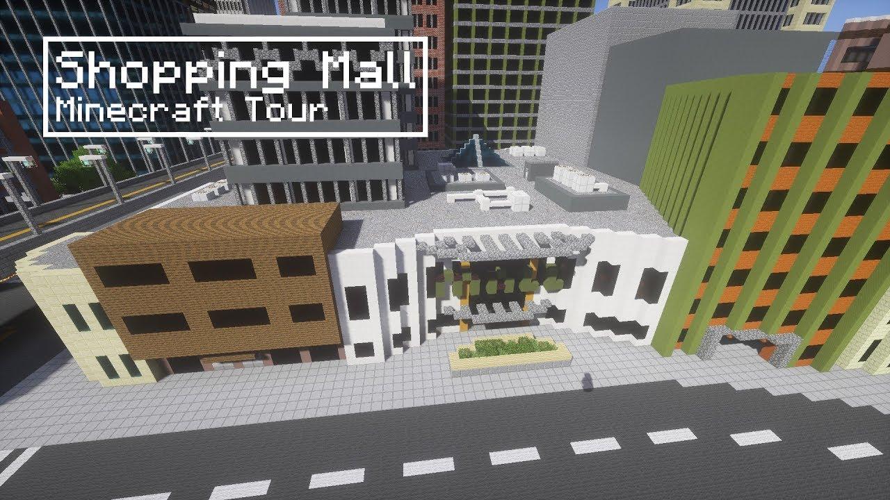 Minecraft Shopping Mall Tour Youtube