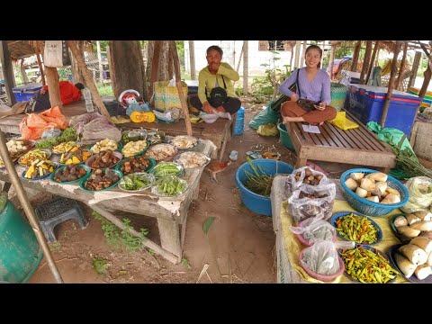 ตลาดขายของป่า ริมทางเมืองท่าแขก เห็ด, หน่อไม้, หอย,มะม่วง...   ຕະຫຼາດຄຳຂີ້ໄກ່ ເມືອງທ່າແຂກ ແຂວງຄຳມ່ວນ