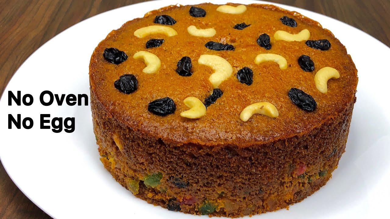 Plum Cake Recipe   Eggless & Without Oven   Perfect Plum Cake Recipe