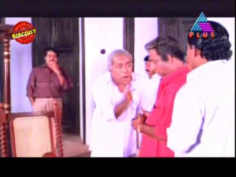 Manichithrathazhu Malayalam Movie scene (Mohanlal and Thilakan)
