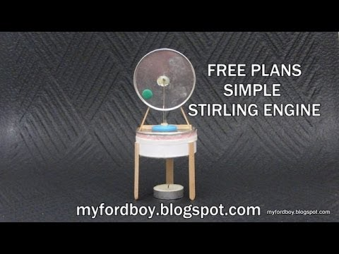 Diy free piston stirling engine step by step part 2 doovi for Stirling engine plans design blueprints