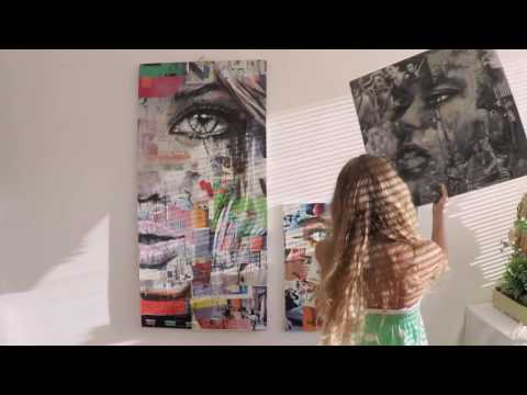 Look around / Face 1 / Innovative contemporary Pop Art installation with two faces