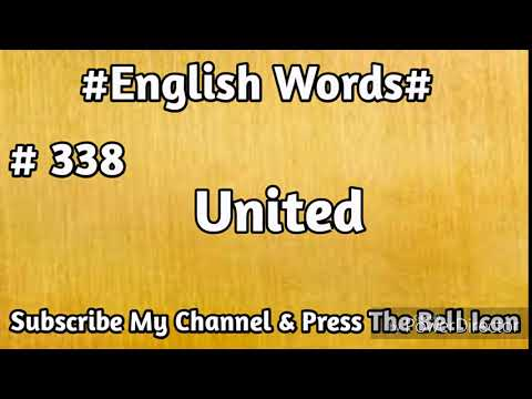 #English#Vocabulary #338 United English Word | Learn English Words | Mehran Series