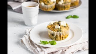 Кекс с фетой и шпинатом