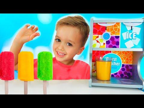 Vlad And Nikita Pretend Play Selling Ice Cream