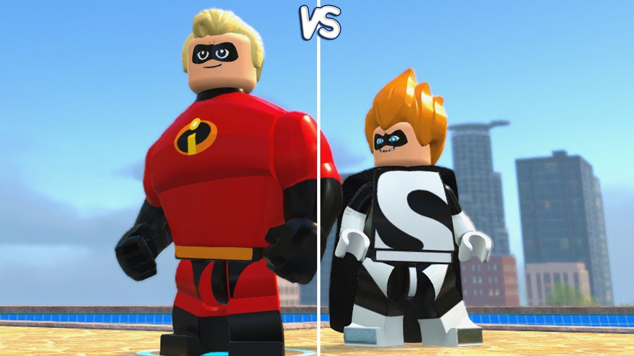 Lego The Incredibles Mr Incredible Vs Syndrome Coop Fight Free Roam Gameplay Hd Youtube