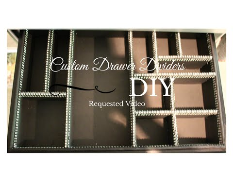 BRE'S BUDGET DIY:   Custom Drawer Dividers