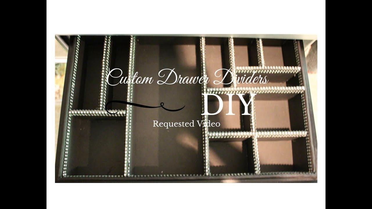 DIY - Custom Drawer Dividers - YouTube