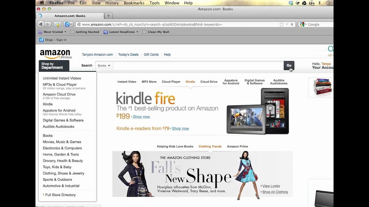How to search for lendable books on Amazon Prime