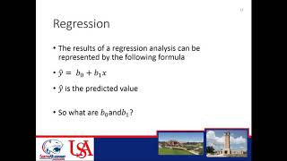 University of South Alabama BUS 255 - Applied Business Statistics II - Week 7 - Regression Part 1