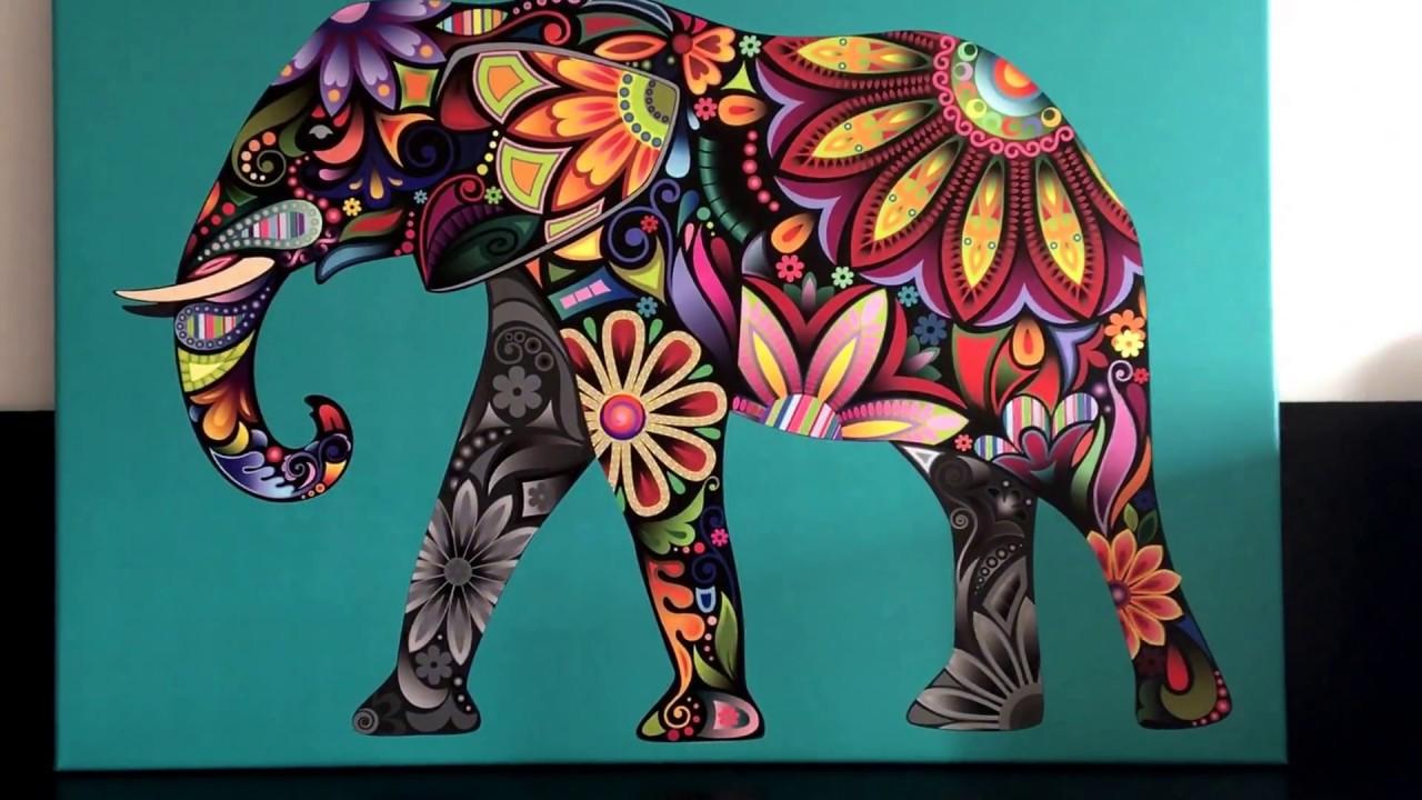 Excepcional Cuadro De Elefante Para Colorear Ideas - Enmarcado Para ...