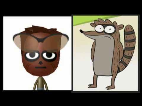 3ds quot regular show quot mii characters and qr codes youtube