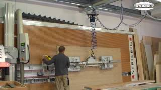 Vacuum Lifting Device - For Removing Wood Sheets From A Vertical Storage Rack| Schmalz