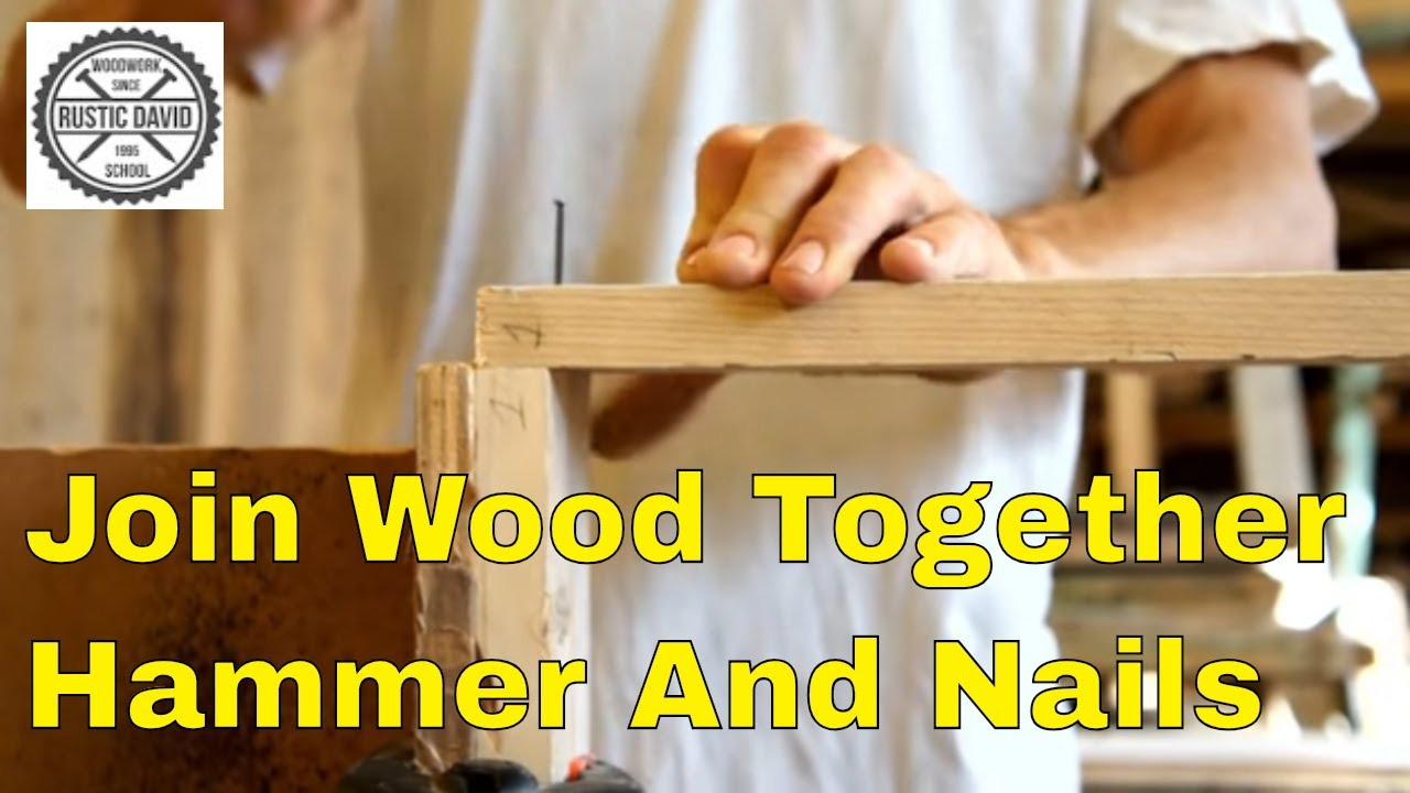 How to join 2 pieces of wood at the corner - YouTube