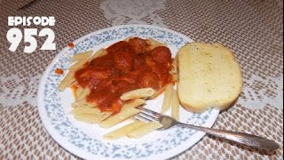 HAVING SPAGETTI AND MEATBALLS YUM! - July 24,2016 (Day 952)