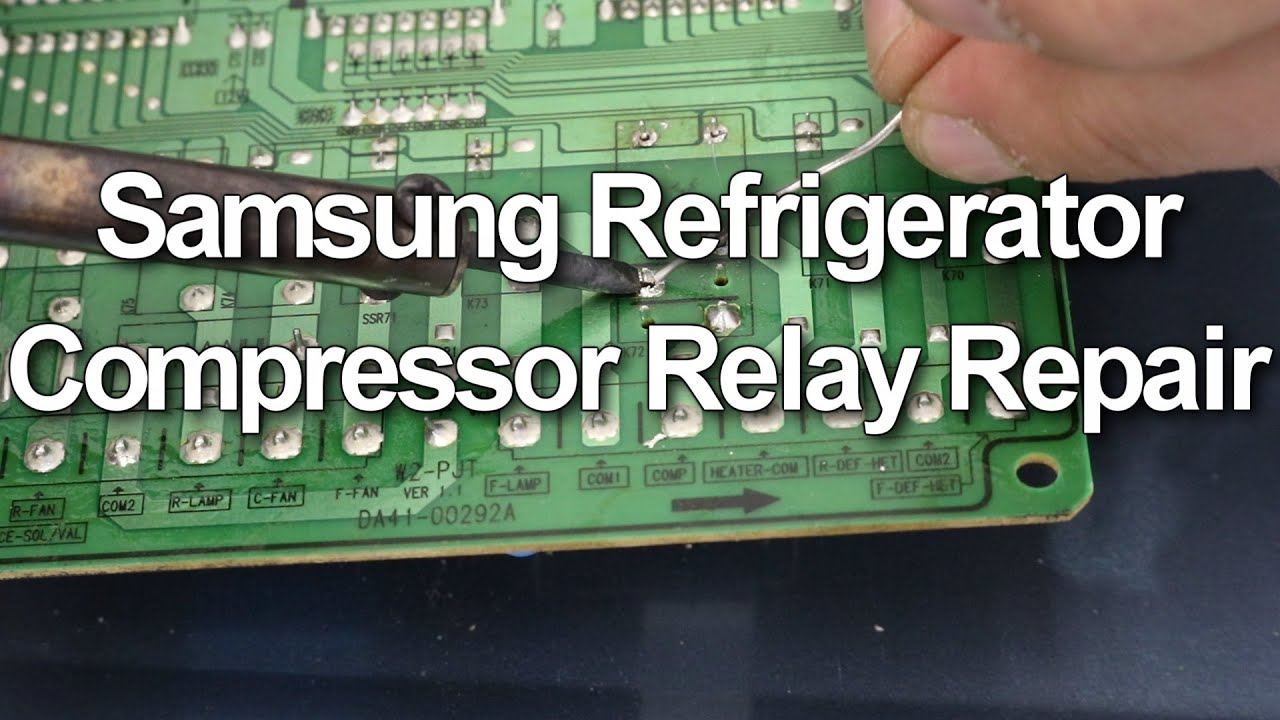 Samsung Refrigerator Not Cooling How To Replace The Compressor Relay Switch Going Bad
