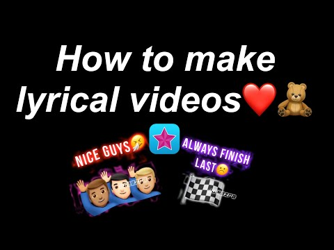 How to make lyrical videos on video star ❤️🧸