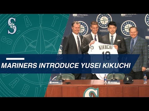 Yusei Kikuchi introduced to the Mariners