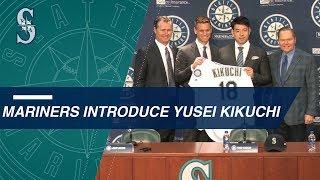 Yusei Kikuchi introduced to the Mariners