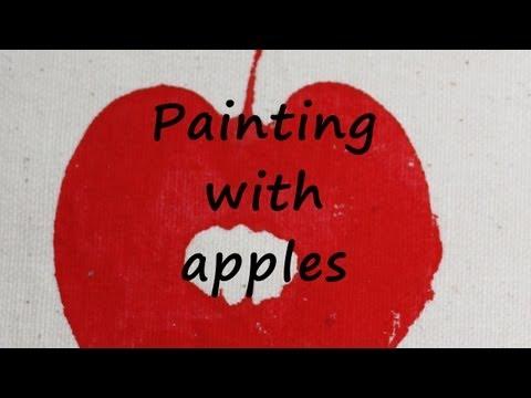 Apple Print Craft Idea