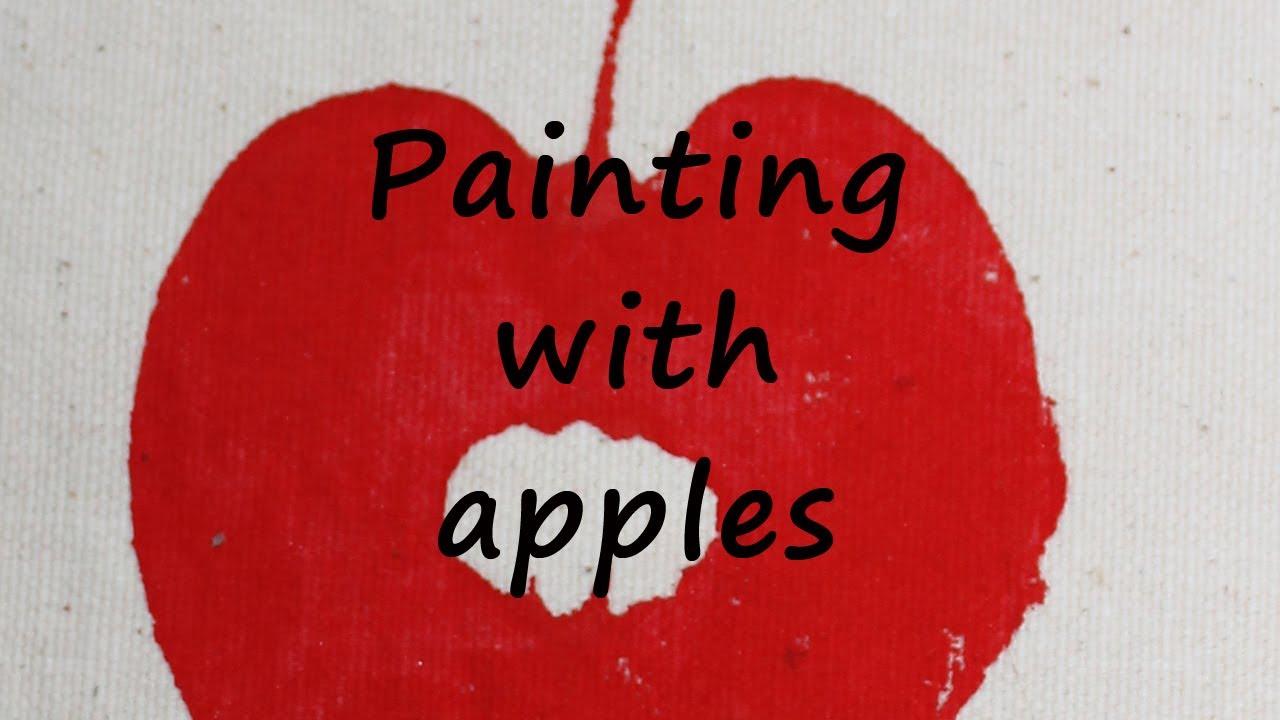 apple print craft idea youtube